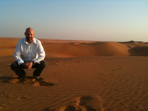 In Oman, along the Wahiba Sands, in January 2012.