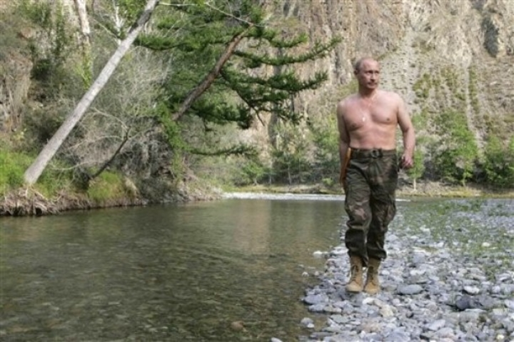 Vladimir Putin almost walks on water.