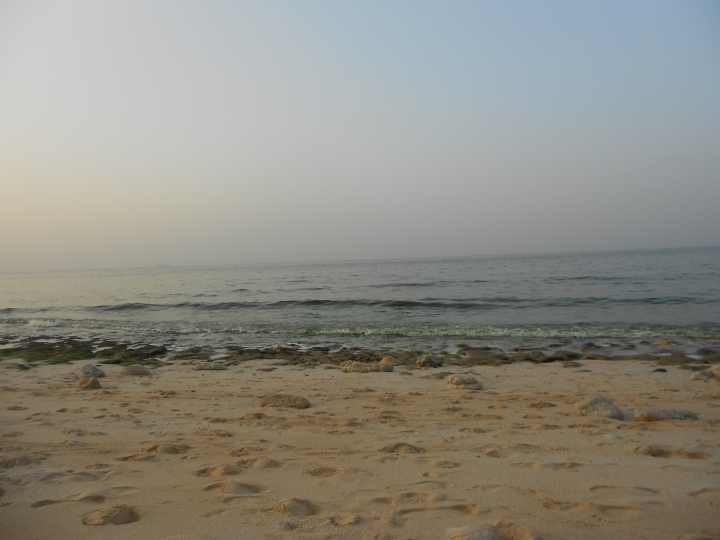 A private beach looking out to the Gulf of Oman. Photo: mine.