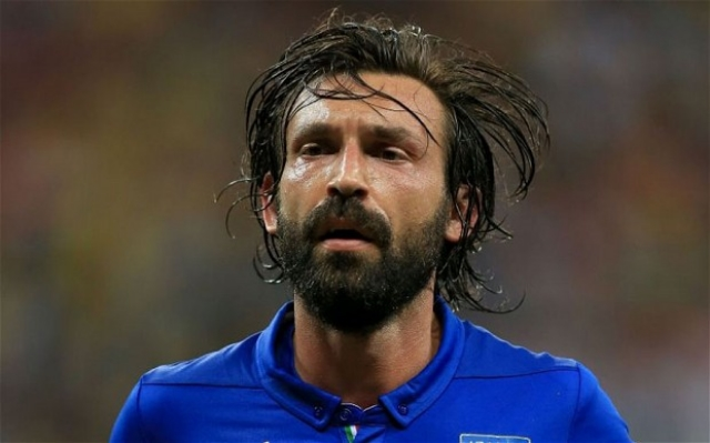 Andrea Pirlo, in an artist's muse.