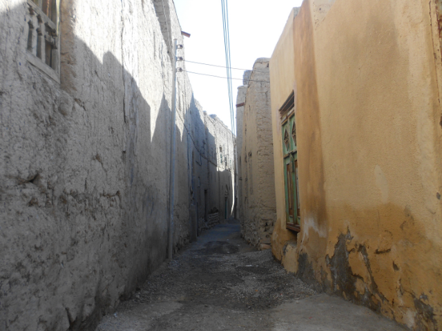 A memorable photo from my travel-study experience in Oman, in 2012. Here, in Nizwa, the path admonishes us.