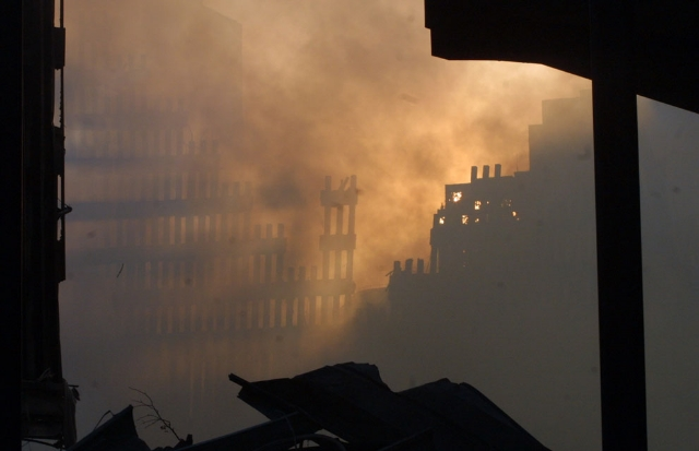 Ground Zero, Lower Manhattan, New York City. Photo: AP/Baldwin. From The Atlantic's In Focus photography series.