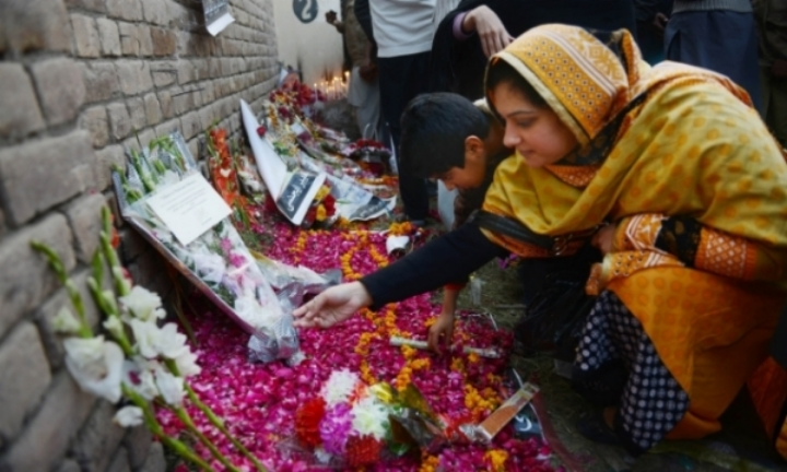 Over 140 Pakistanis, mostly children and youth, were massacred by the Pakistani Taliban in Peshawar on December 16.    Photo:  The Guardian .