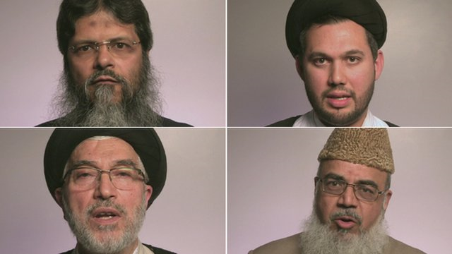 "These Muslim leaders in the United Kingdom were among other Muslims who contributed to the video ""UK Imams against ISIS,"" published to YouTube in July 2014. Photo: BBC."