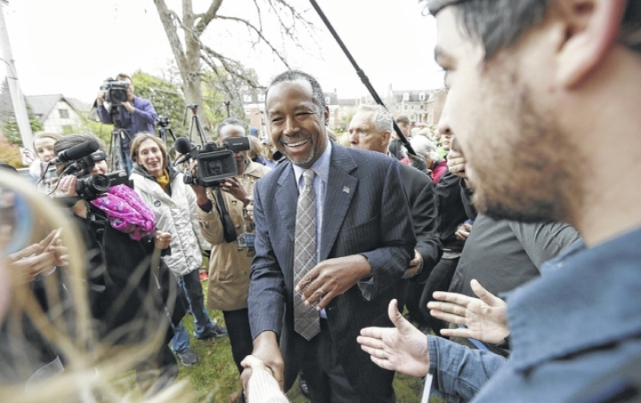 Republican presidential candidate Ben Carson on the campaign trail.