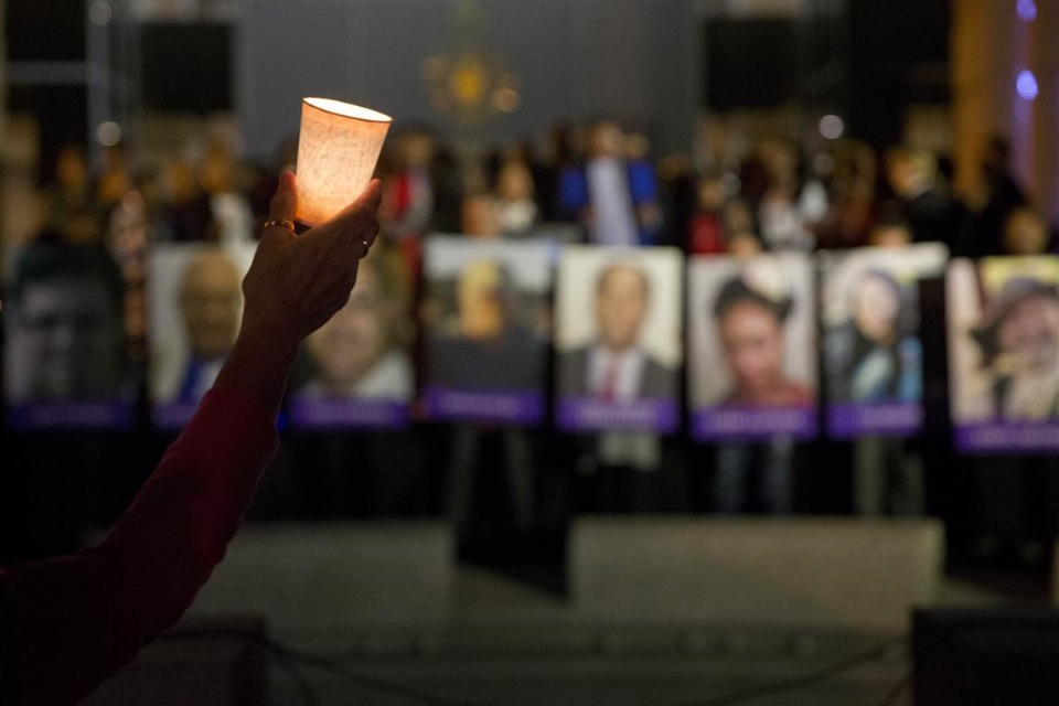 Mourners remember the victims of a shooting at the Inland Regional Center in San Bernardino, California, on December 2, 2015. Photo: Mike Blake/Reuters, via NBC News.