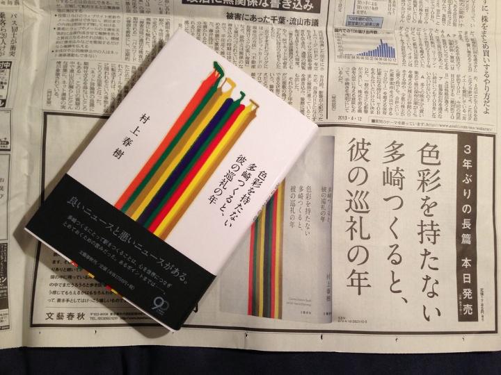 Colorless Tsukuru Tazaki and His Years of Pilgrimage.