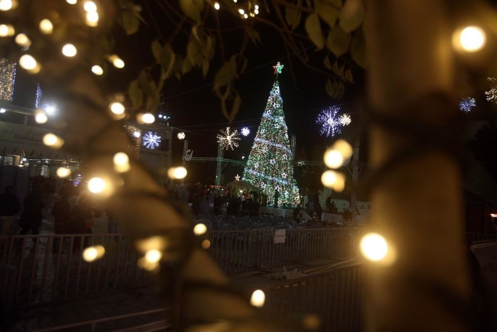 A view to Manger Square in Bethlehem.    Photo: Abed Al Hashlamoun / EPA (2015).