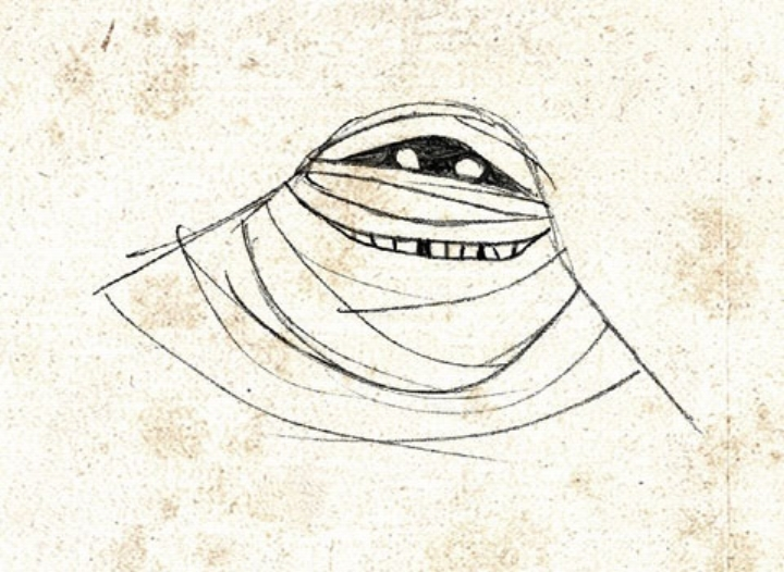A sketch of  Murray the Mummy  from the animated film  Hotel Transylvania  (2012).    Photo: Sony Pictures Animation.
