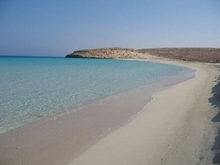 A secluded corner of Libya's Mediterranean coastline.