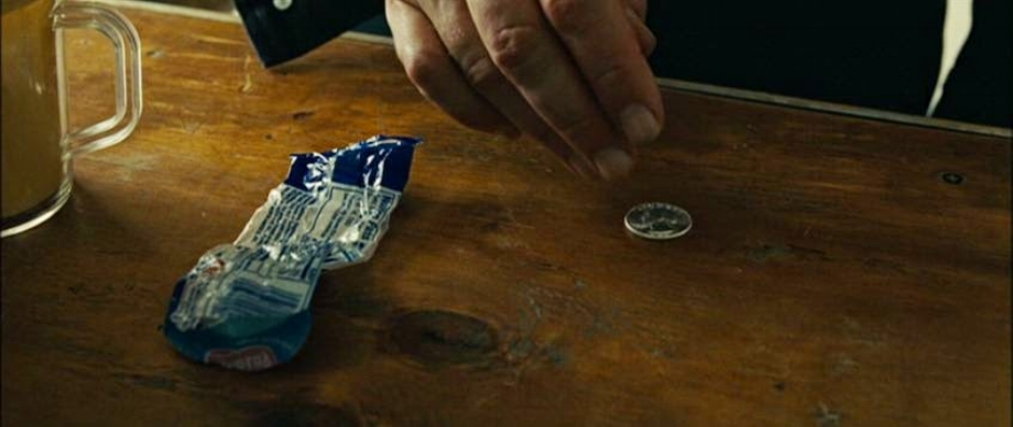An emblematic image from the Texaco convenience-store scene in the 2007 film   No Country for Old Men  .