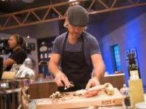 Chad on the set of Food Network Star