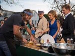 Chad with Alton Brown, Giada De Laurentiis, and Bobby Flay