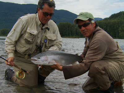 Dale & Don Freschi with a Skeena River Steelhead