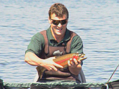 Grant Fines with a Big Rainbow Trout