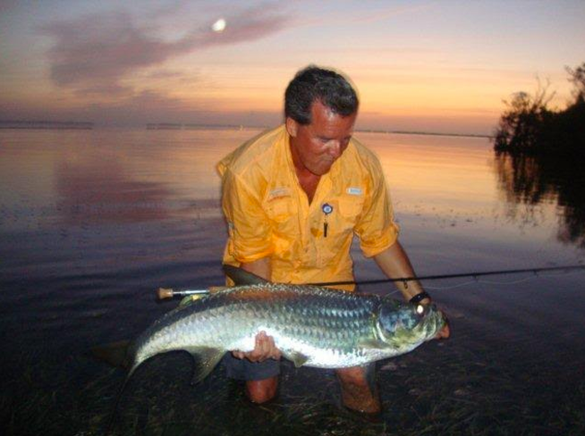 Dale Freschi with a baby tarpon