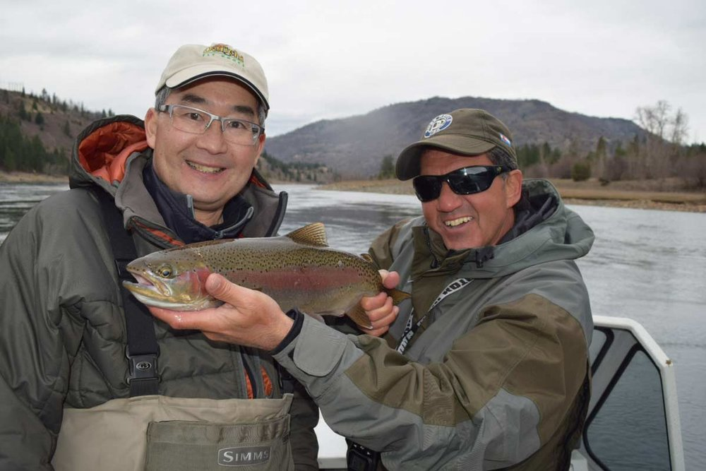 Don Freschi and Brian Chan Fishing the Columbia