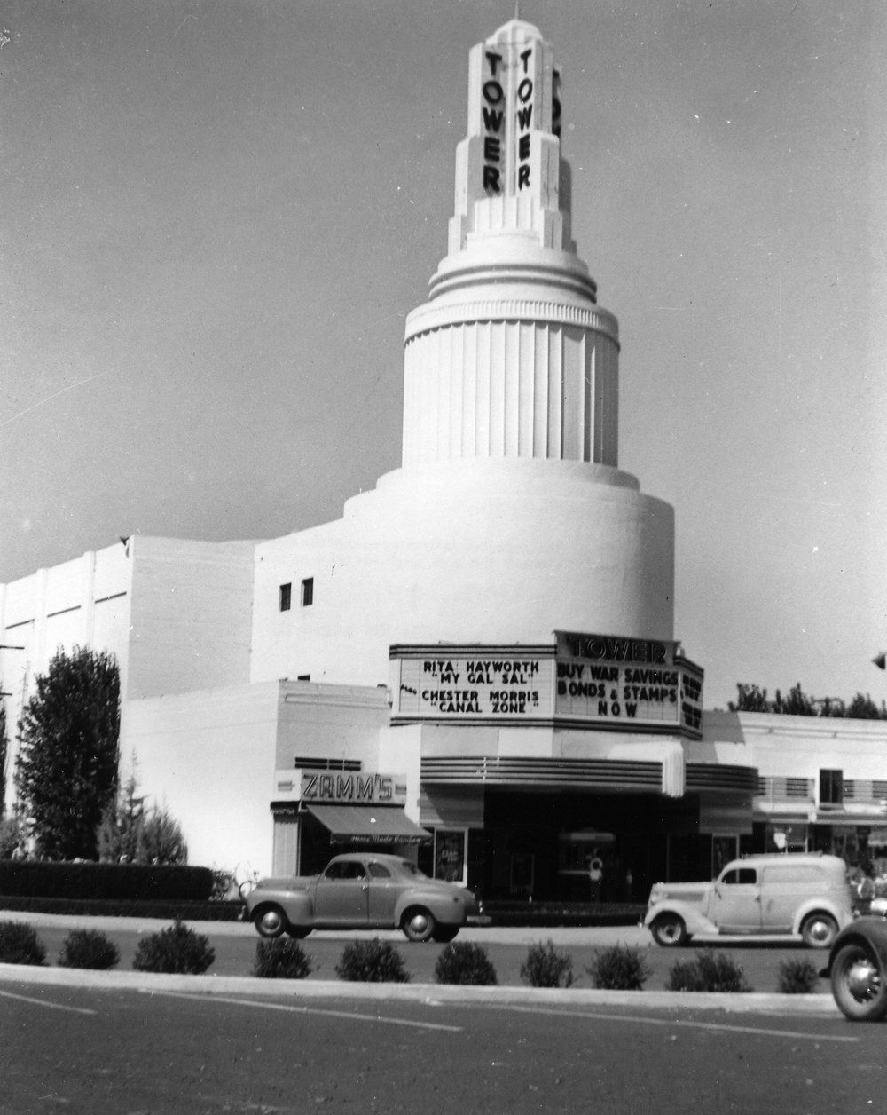 Tower Sacramento 1942 - From the Collection of Jack Tilmany