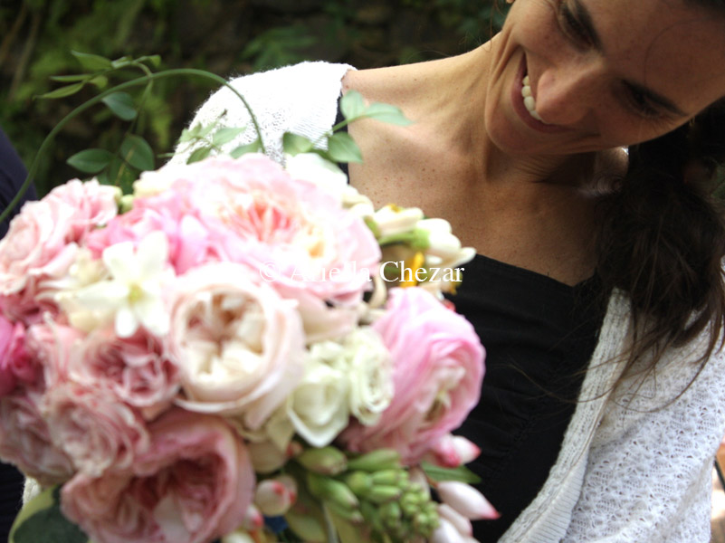 The lovely Reba and her beautiful bouquet. Photo credit: Courtney Kelly