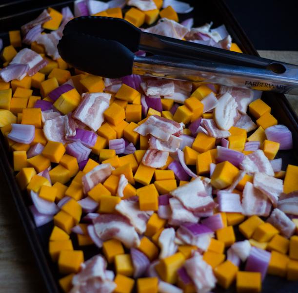 Roasted Butternut Squash & Bacon Wraps l wanderingroot.com