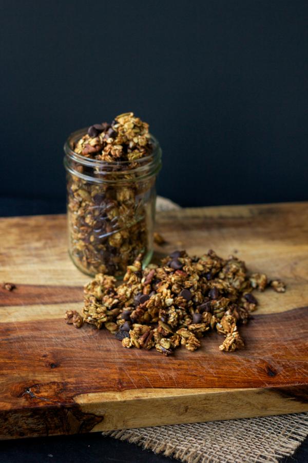 Pumpkin and Mixed Seed Granola l wanderingroot.com