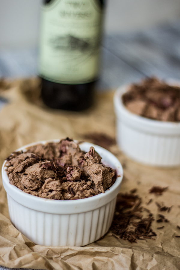 Chocolate Ice Cream {Dairy Free!} with Port Drizzle l wanderingroot.com