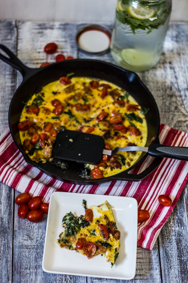 Spicy Roasted Tomato Frittata l wanderingroot.com