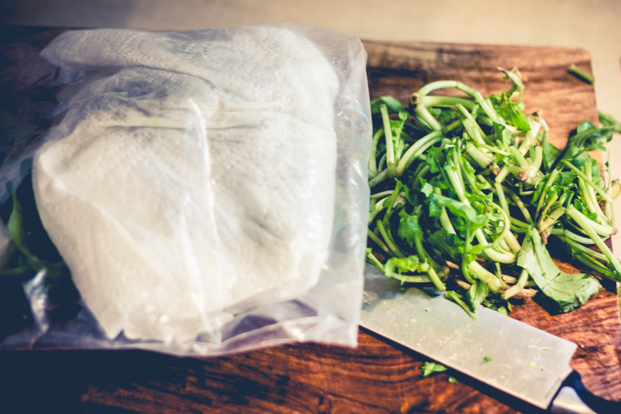Kitchen Tip // How to Wash & Store Lettuce l wanderingroot.com