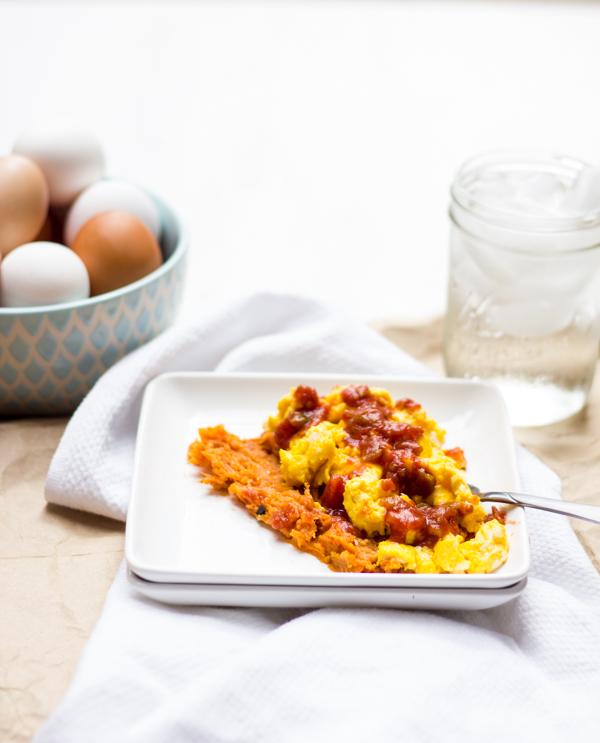 Sweet Potato and Egg Scramble l wanderingroot.com