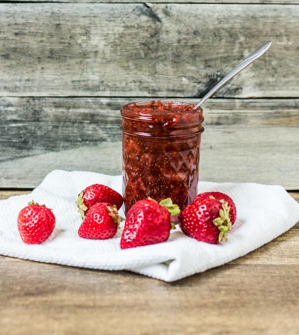 Chia Strawberry Sauce l wanderingroot.com
