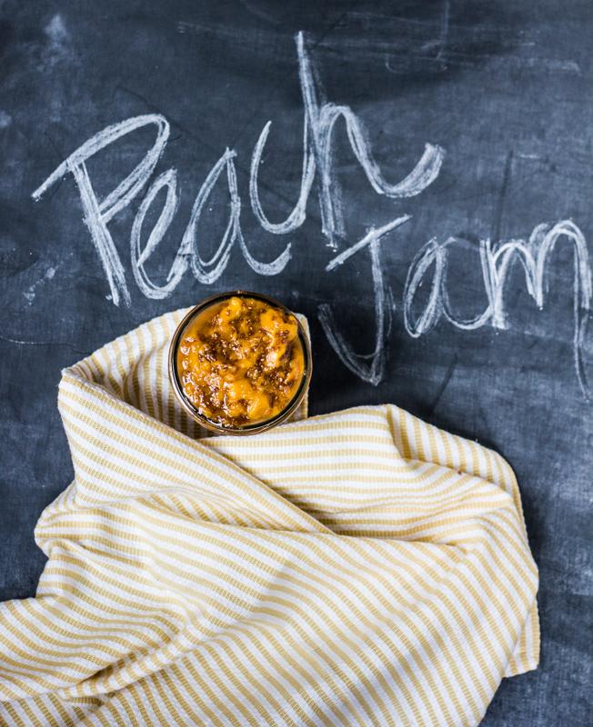 Cinnamon Honey Peach Jam l wanderingroot.com