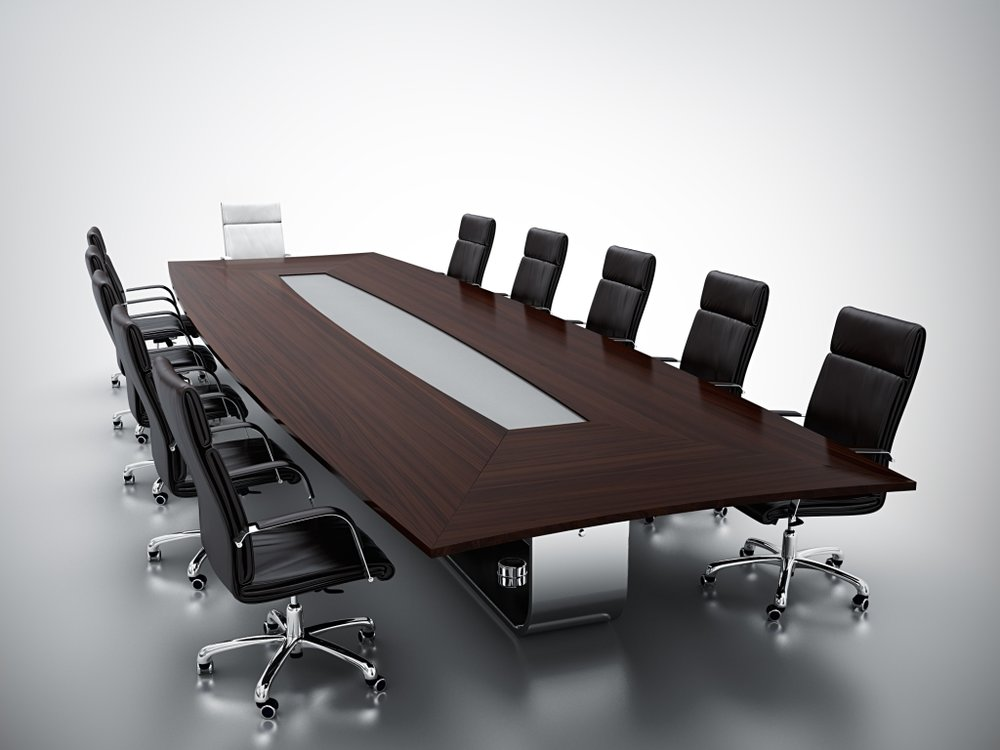 Custom large conference table for board room.