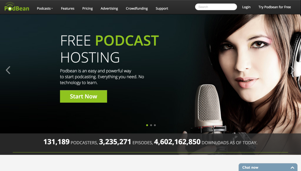 Podbean is an easy and powerful way   to start podcasting. Everything you need. No   technology to learn.
