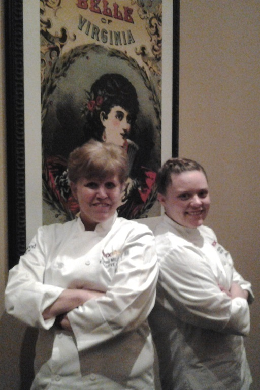 Executive Chef Bobbie Miller and Sous Chef Karen Pawelee of the Sheraton Premiere Tysons.