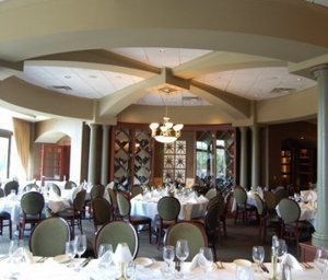 The dining room of Ruth's Chris Steak House in Fairfax.