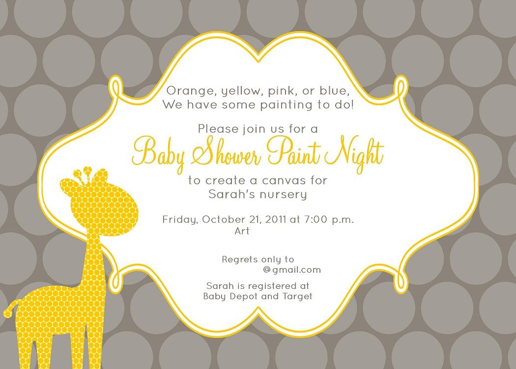 Baby Shower Paint Night — The Abundant Life Project