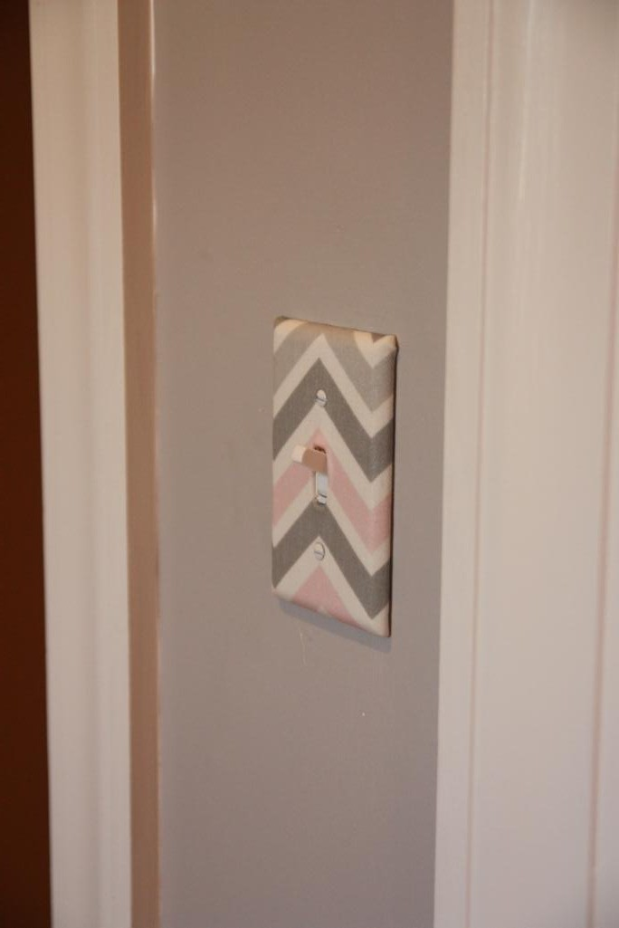 chevron switch plate