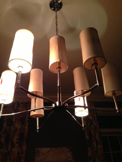 burnt chandelier