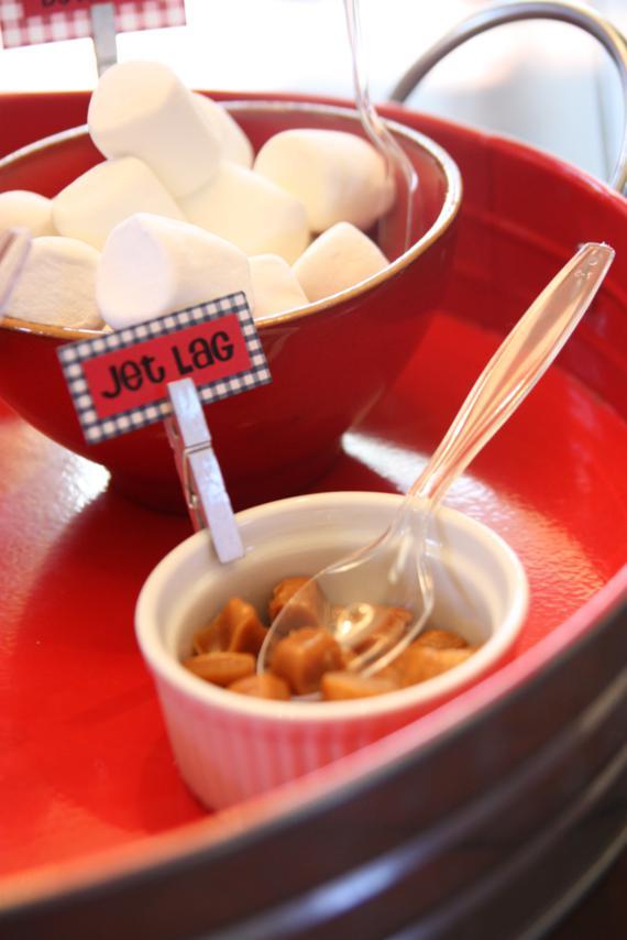 Caramel pieces = jet lag