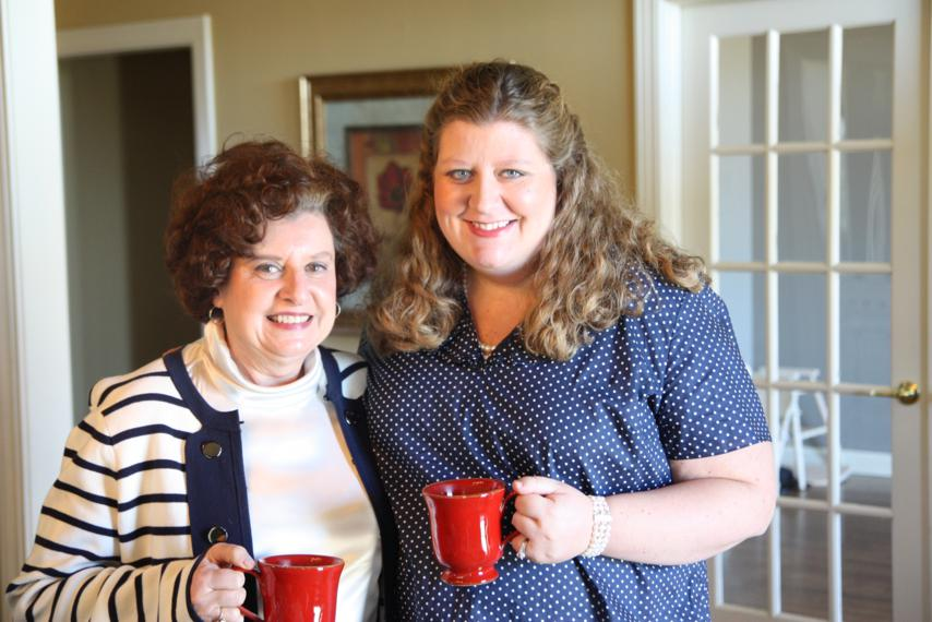 Jenny with her mama, Janie