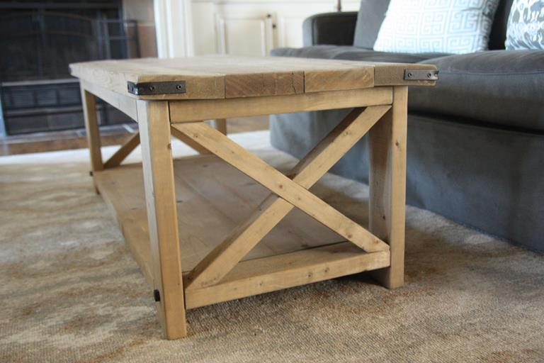 I Have LOVED The Rustic X Coffee Table And Was So Excited To See That She Also Had Plans For A Matching Bookshelf Perfect Solution Our Problem