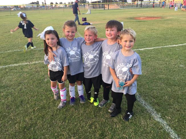 This team picture is missing Levi who was out of town for this game!  (Left to right: Katie Wynn, Addi Clare, Max, Luke, and Roston)
