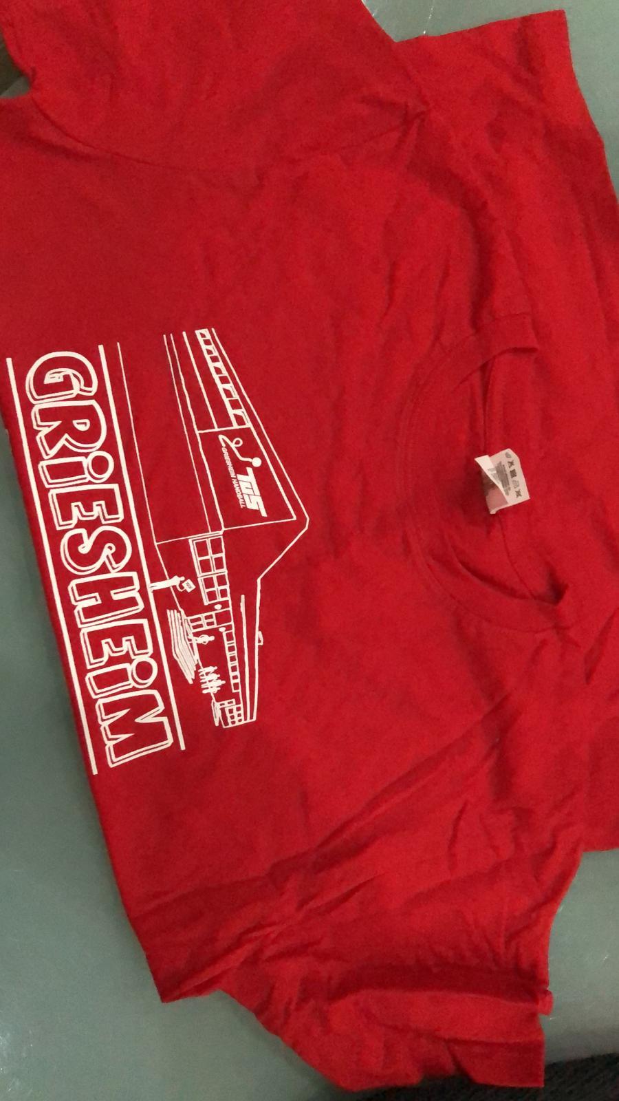 T-Shirt rot - neu und ungetragen, Größe S, 5 Euro(Kontakt: Ronald Bausch saro174@gmx.net)