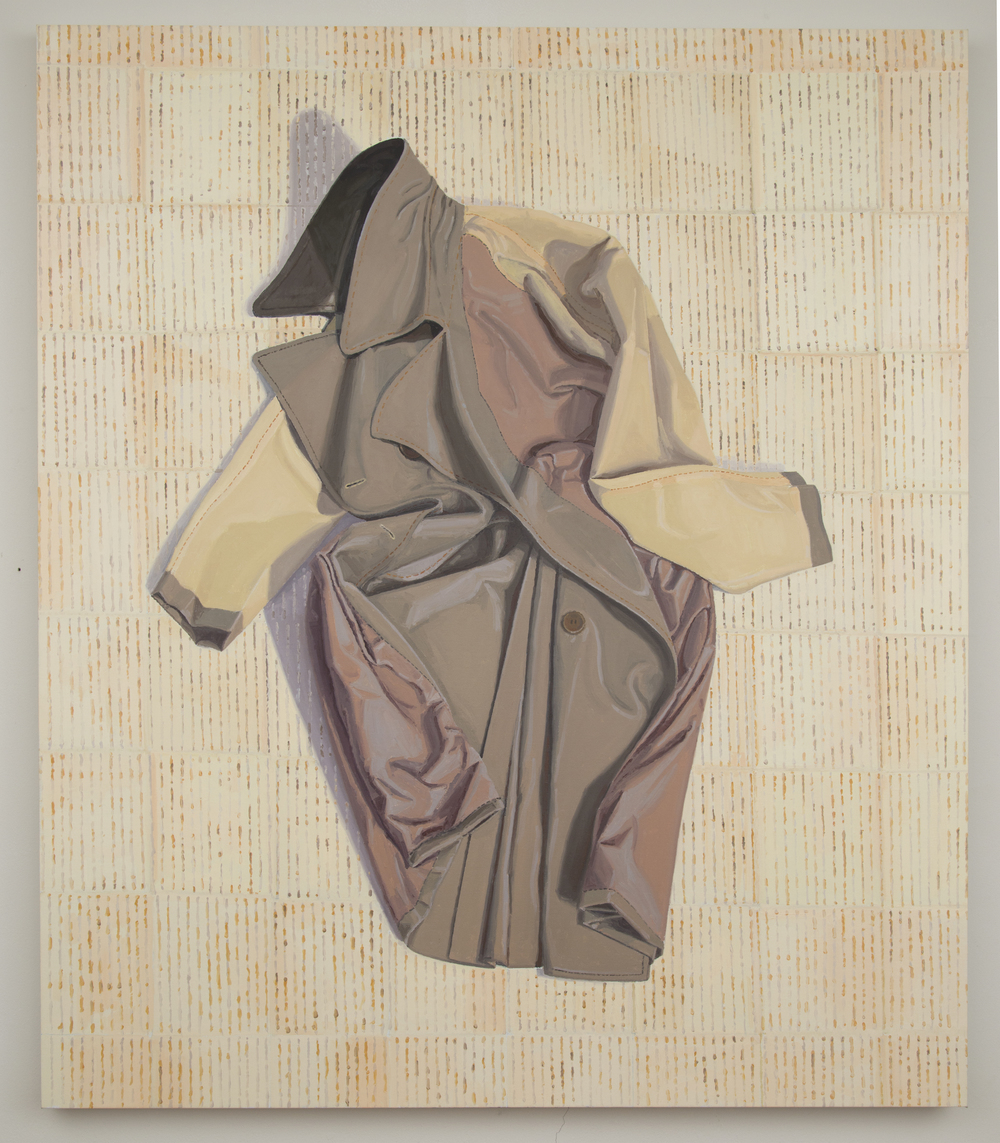 Inside-Out Overcoat, 2013, oil on linen, 56 x 48 inches