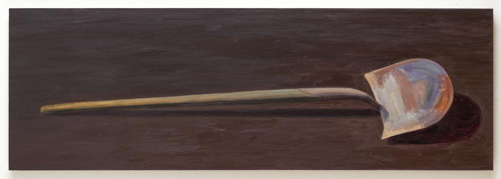Shovel II, 2013, oil on linen, 20 x 60 inches