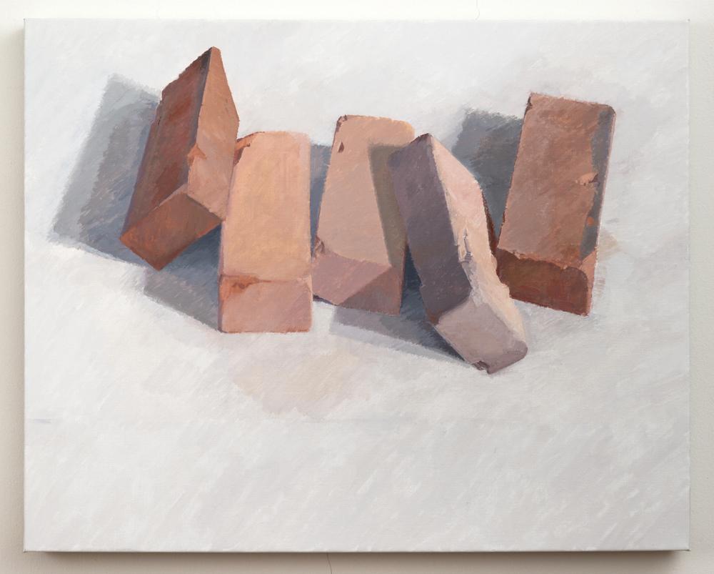 Five Bricks, 2013, oil on linen, 24 x 30 inches