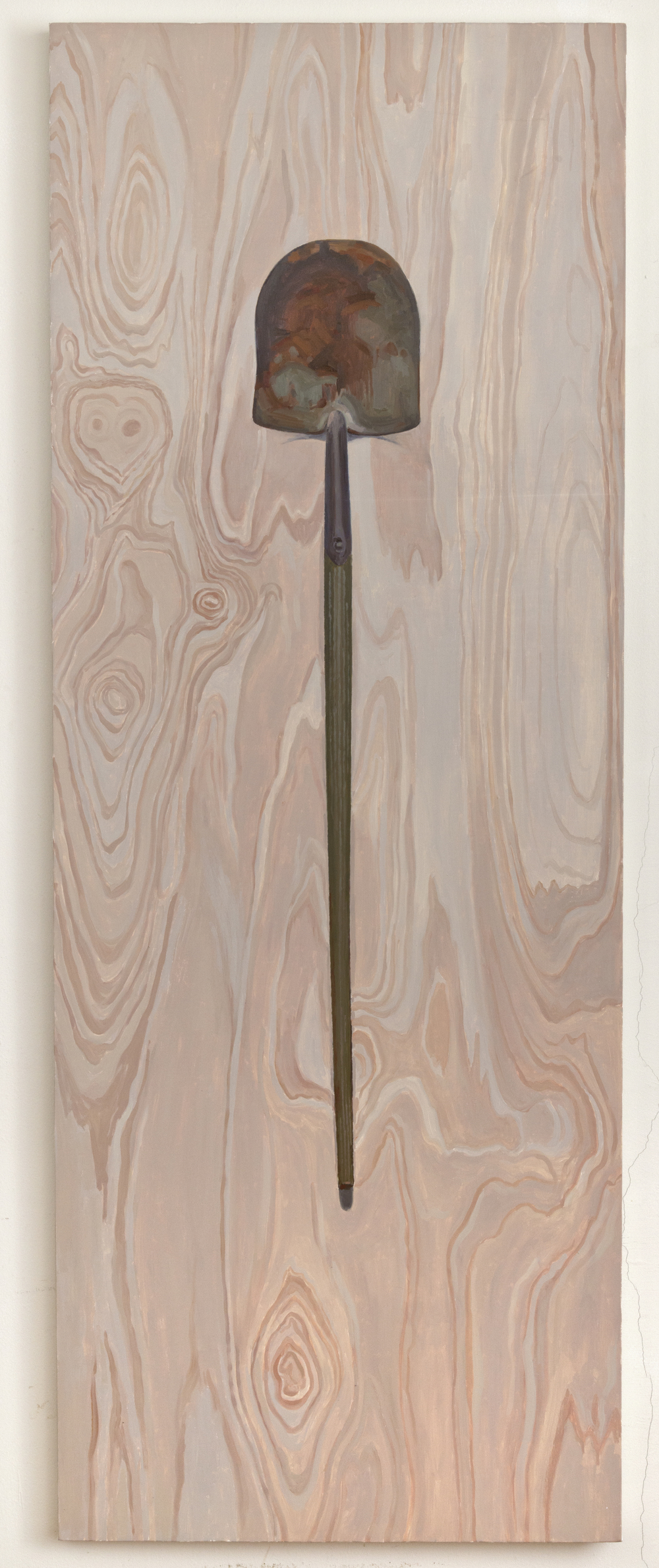 Shovel, 2013, oil on linen, 30 x 80 inches