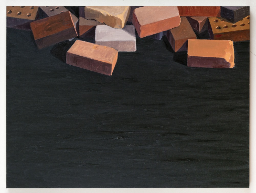 Bricks, 2013, oil on linen, 36 x 48 inches