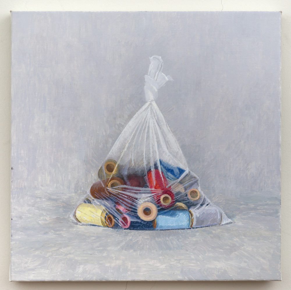 Spools, 2013, oil on linen, 20 x 20 inches