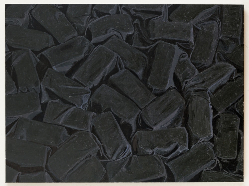 Covered Bricks, 2013, oil on linen, 36 x 48 inches